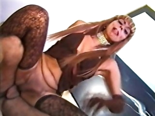 Andrea Nobili nails sheboy In Lace stockings